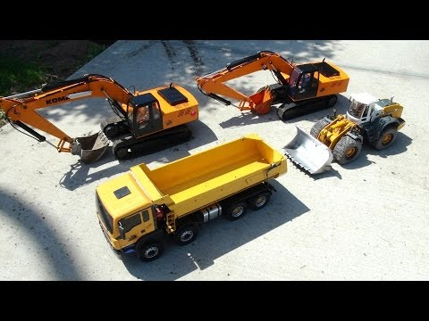 RC ADVENTURES - Garden Trucking (RC Excavators. Dump Truck & Wheel Loader)