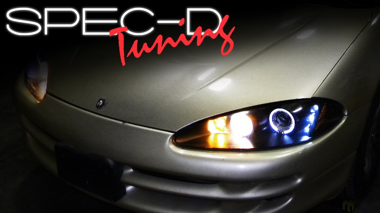 SPECDTUNING INSTALLATION VIDEO: 1998-2004 DODGE INTREPID PROJECTOR HEAD LIGHTS - YouTube
