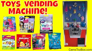 Toy Vending Machine Surprises Blind bags Opening LPS Shopkins Trolls Finding Dory Micro Lite