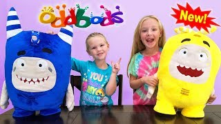 Opening New OddBods Toys! Giant Plushie and Light Up Game!!