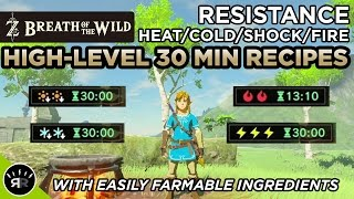 Zelda: Breath of the Wild - Best High-Level 30 Min. Heat/Cold/Shock/Fire Resistance Recipes