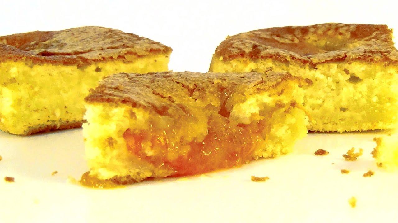 Пирог с творогом и абрикосами рецепт пошагово в духовке