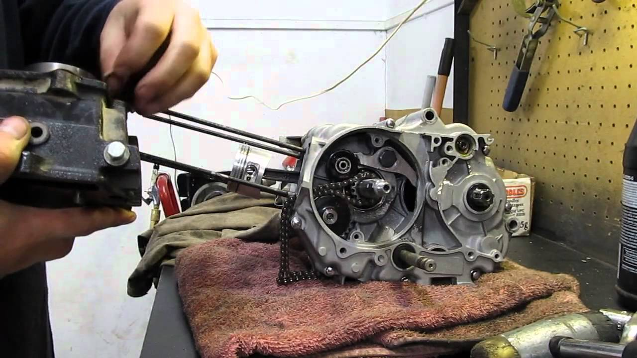 110cc pit bike engine teardown  u0026 rebuild pt3