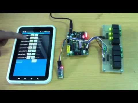 Android Bluetooth control Arduino 8 devices Music Videos