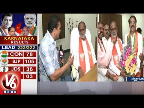 TS BJP President Laxman Face To Face Over Karnataka Election Results | V6 News