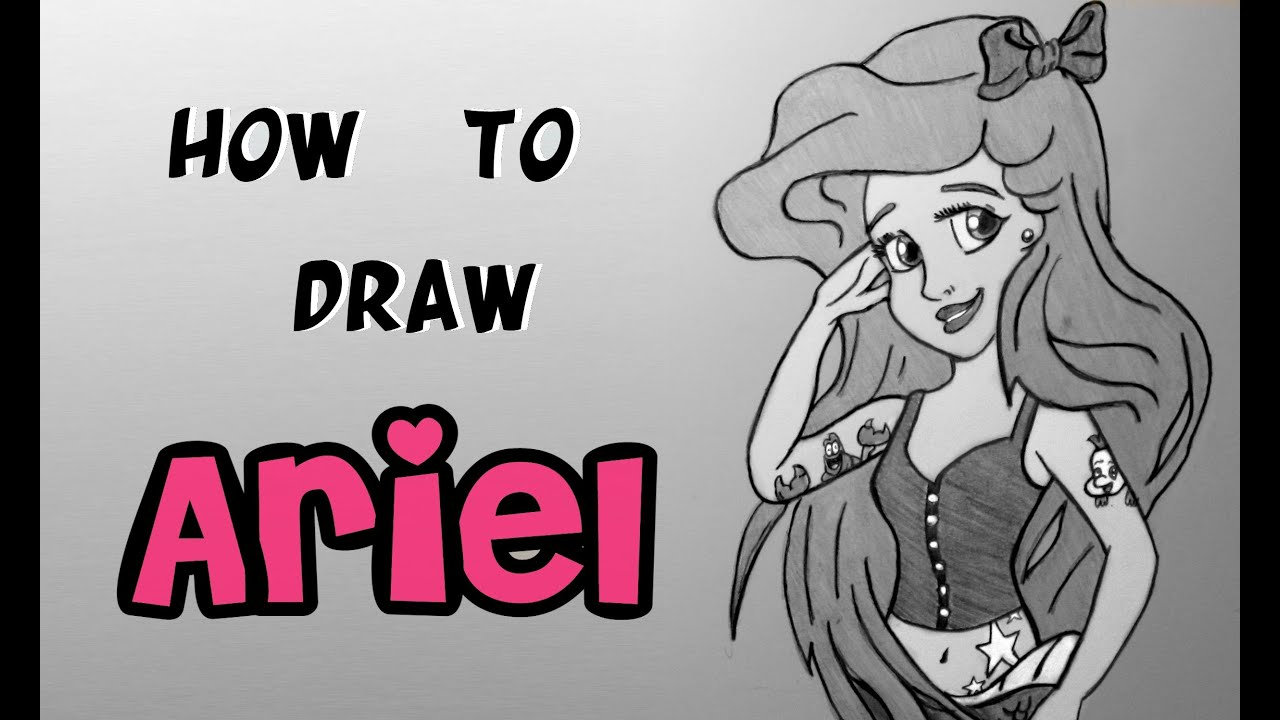 ep 150 How to Draw Ariel The