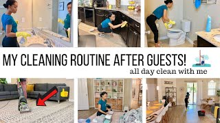 CLEANING ROUTINE AFTER GUESTS / ALL DAY CLEAN WITH ME / CLEANING MOTIVATION / Jessica Tull cleaning