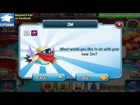 ZIM MONSTER How to get it in Monster Legends