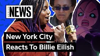 "NYC Reacts To Billie Eilish's ""you should see me in a crown"" Music Video 