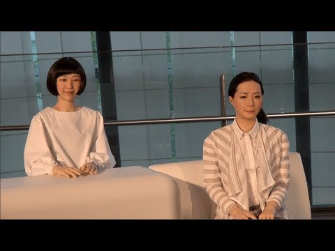 Kodomoroid and Otonaroid: Professor Ishiguro's new androids at Miraikan
