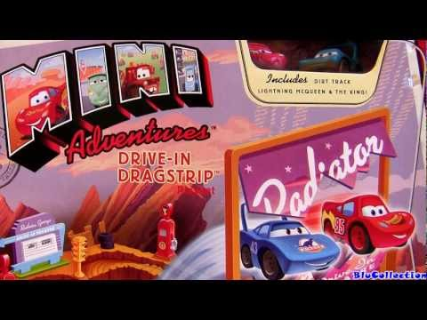 Cars Drive-In Dragstrip Playset Mini Adventures with Dirt Track Lightning Mcqueen Disney The King