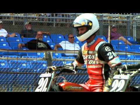 Motorcycle Racing Action, Near Crashes and More!  Harley Davidson Flat Track Motorcycle Racing -