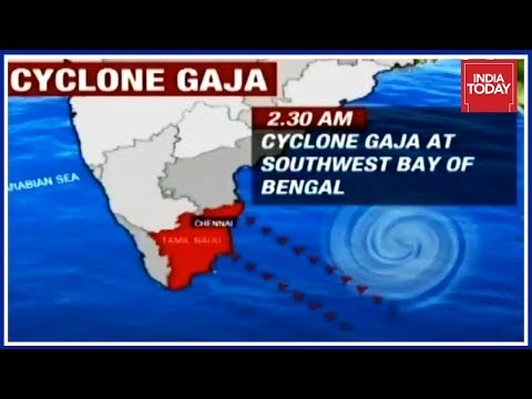 Navy Braces For Cyclone Gaja Which Is To Make Landfall In Evening