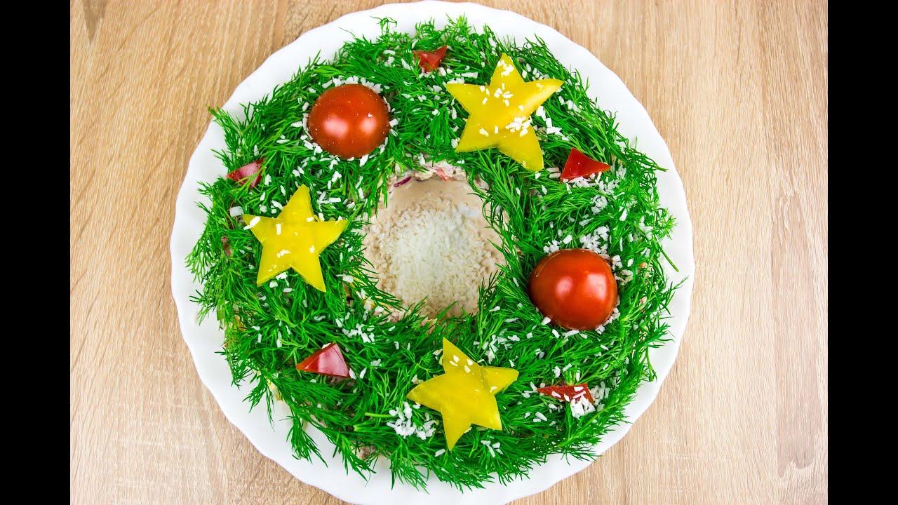 Новогодние салаты и блюда