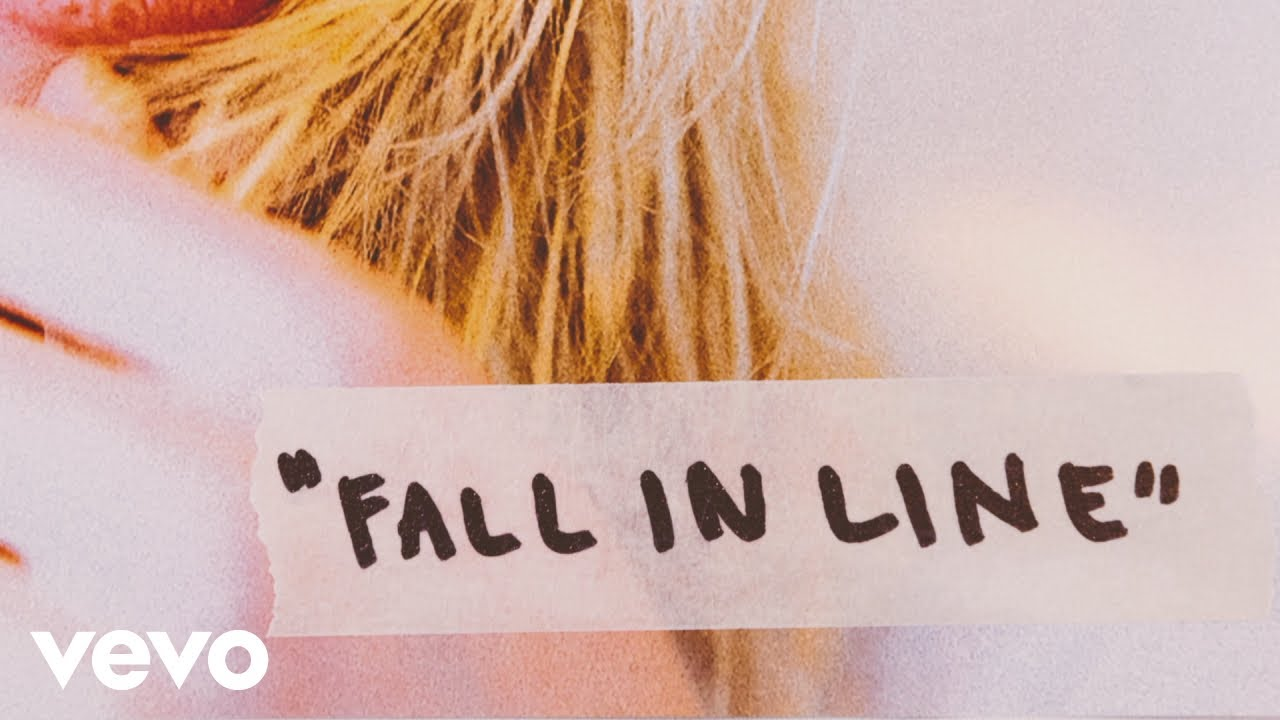 Christina Aguilera - Fall In Line (Lyric Video) ft. Demi Lovato