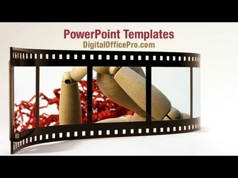 Movie Film Roll PowerPoint Template Backgrounds - DigitalOfficePro #00961W