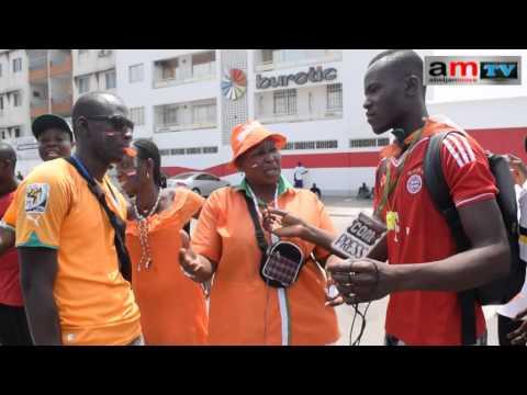 Reportage sur l'arrivée des Éléphants de C-I Champions d'Afrique 2015