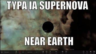 What If a White Dwarf Goes Supernova Near Earth?