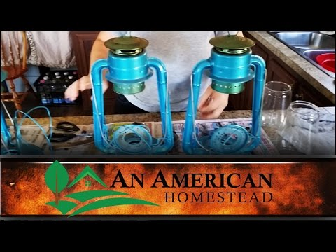 Cleaning the Lanterns - An American Homestead