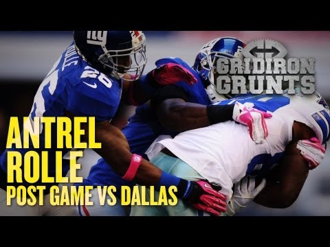 Antrel Rolle Talks About Big Week 8 Victory, Hurricane Sandy, and Looks Ahead to Week 9
