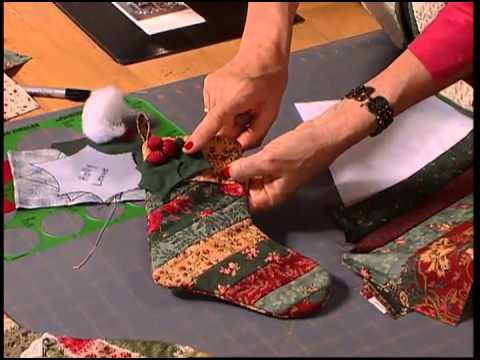 Christmas at Bear s Paw Ranch - Christmas Stockings - Crazy Quilt Stocking, Strip Stocking