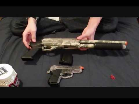 Mossberg Tactical Spring Airsoft Shotgun and Pistol Kit Review and Shooting