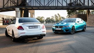 New BMW M5 vs Mercedes-AMG E63s Drag Race.