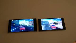 Sony Xperia Z5 vs Z5 Premium - Gaming Comparison - Asphalt 8 With PS4 Bluetooth Controllers