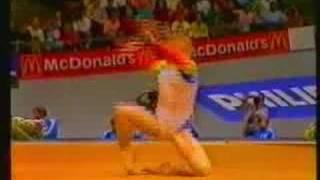 DANIELA SILIVAS 1987 WORLDS TEAM COMP-FLOOR-PERFECT 10!