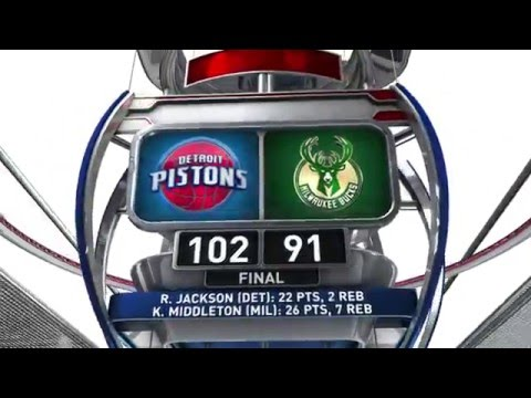 Detroit Pistons vs Milwaukee Bucks - February 27, 2016