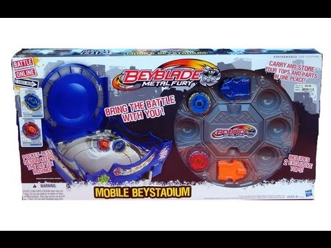 Beyblade Metal Fury Mobile Beystadium Unboxing