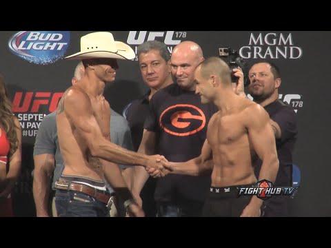 UFC 178 weigh in  face off Donald Cerrone vs Eddie Alvarez