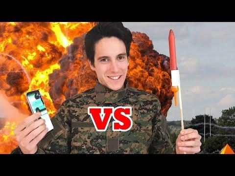 COHETE VS Samsung Galaxy S8 !! Test De Destrucción EXTREMO