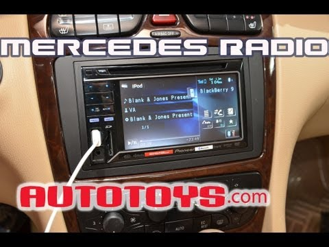 Mercedes C240 C-Class Radio W203 Double Din Radio Removal Pioneer Installation AutoToys.Com