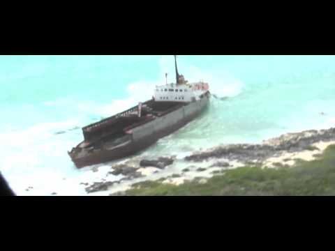 Grounded Freighter Pounded by Waves From Tropical Storm Isaac in Puerto Rico
