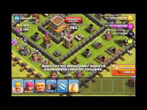 Clash Of Clans - Best TownHall Level 8 Farming Setup & Attack FR