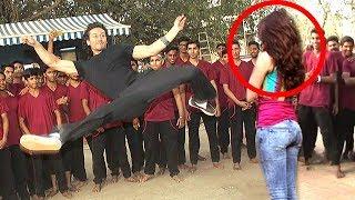 Tiger Shroff's AMAZING Stunts With Shraddha Kapoor For Baaghi Movie Full Video