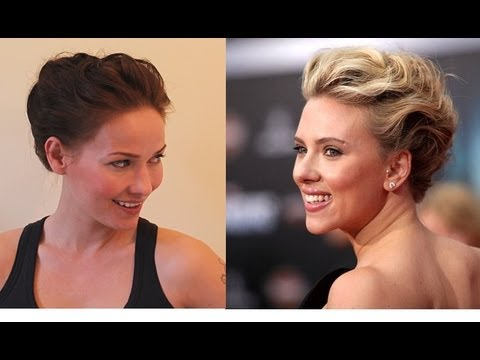 Scarlett Johansson Hair Tutorial from Avengers Premiere for Prom, Wedding, Party