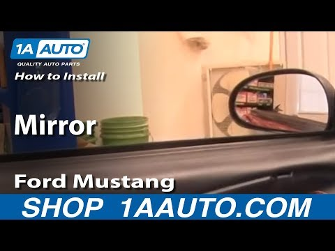 How To Install Replace Side Rear View Mirror Ford Mustang 99-04 1AAuto.com