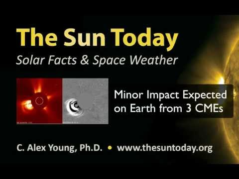 Minor Impact Expected April 22, 2012 on Earth from 3 CMEs
