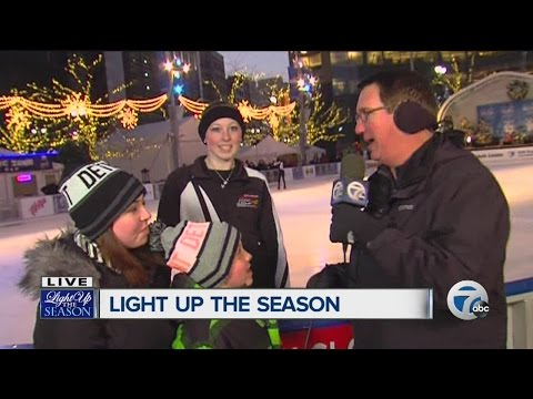 Channel 7 lights up the season with Dave Rexroth at Campus Martius