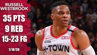 Russell Westbrook drops 35 in Lakers vs. Rockets | 2019-20 NBA Highlights