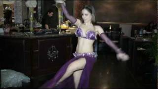 Belly Dance With Stick - Giselle - راقصة شرقية Piano Restaurant London