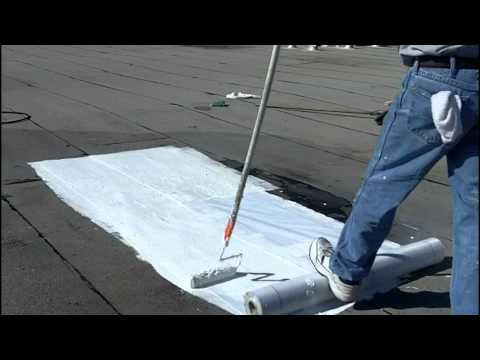 How to install elastomeric roof coating flat roofs how for Flat roof waterproofing paint
