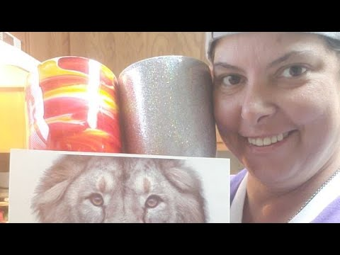 Tumbler Tutorial: temporary Tattoo W/ Glitter & Alcohol Ink