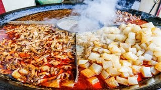 Chinese Street Food Tour in Wuhan, China   Street Food in China BEST Noodles