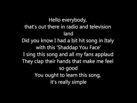 Shaddap you face - Joe Dolce Lyrics