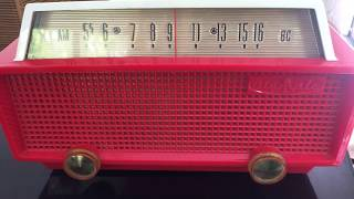Red and white Olympic Vintage Radio