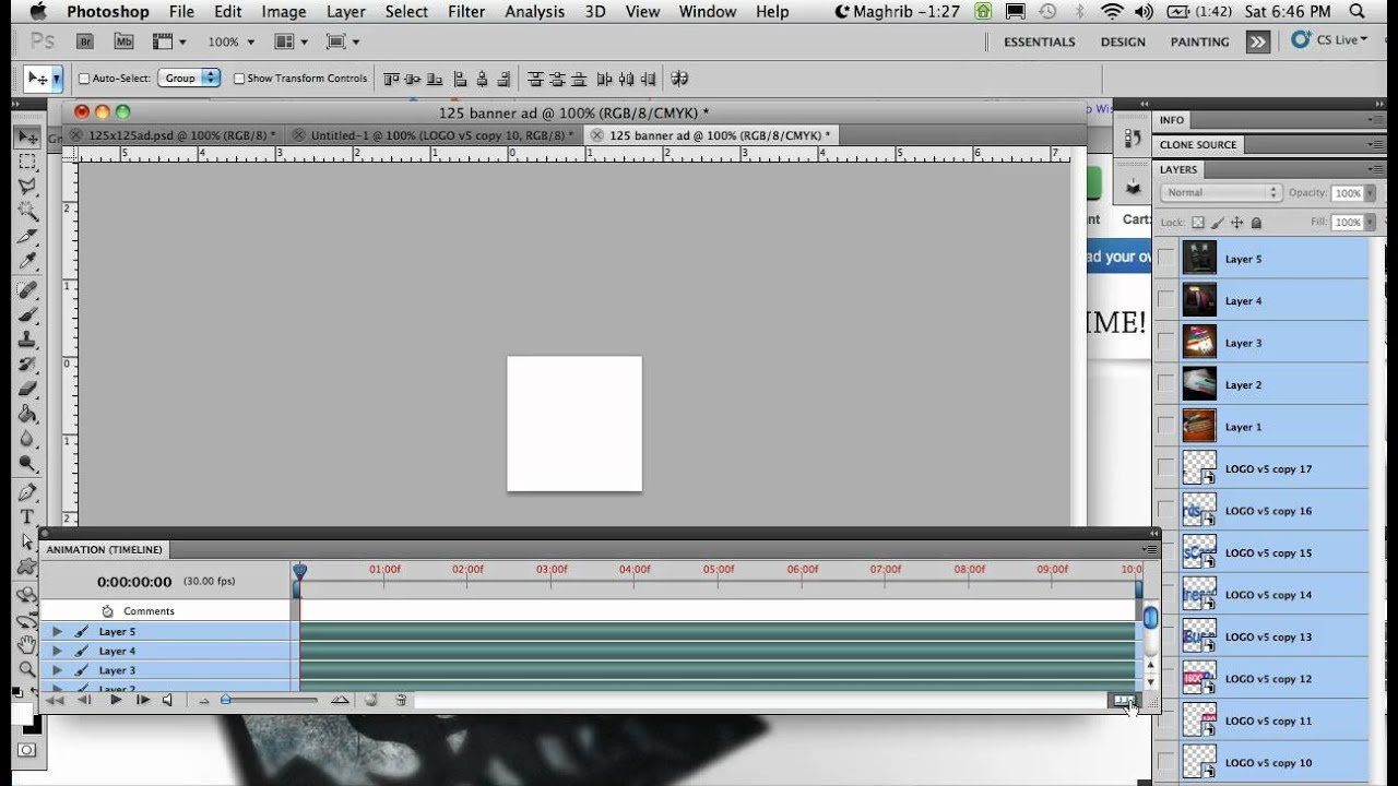 how to create right dimensions for youtube banner photohop