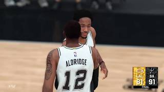Lakers@Spurs NBA2K19 RegularSeason - Highlights